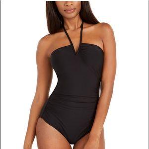 Calvin Klein Solid V-Wire Halter-Neck Swimsuit 12